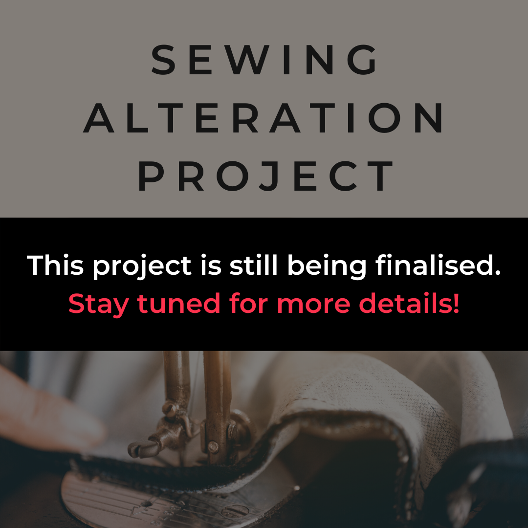 sewing alteration project in progress